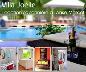 Chambres en location saisoni�re � L'anse Marcel Saint-Martin